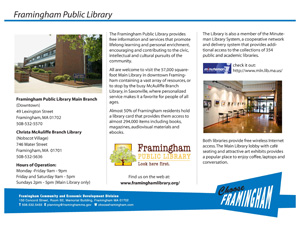 image of a Fact Sheet on the Framignham Public Library