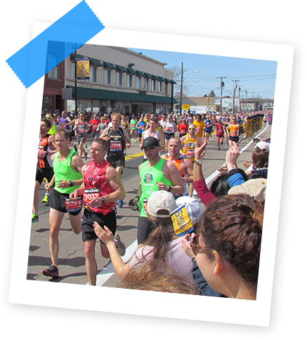 Image of Marathon Runners in Downtown Framingham
