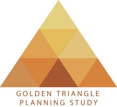 Logo for the joint Framingham and Natick Golden Triangle Planning Study