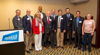 Group Image of panelists and speakers from Sept 2017 ChooseFramingham Life Sciences Forum