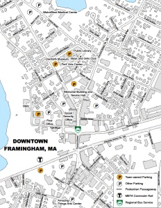 Downtown Framingham Parking Map