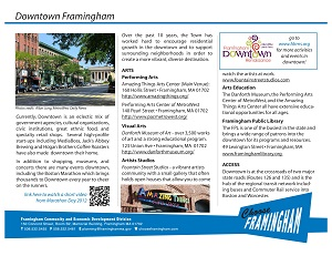 image of a Fact Sheet on the Framignham Downtown