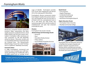 image of a Fact Sheet on the business community in framingham